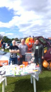 GMB members promoting R75 branch at Ripon Car Boot Sale